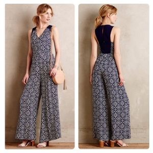Anthropologie Elevenses Audra Wide Leg Jumpsuit